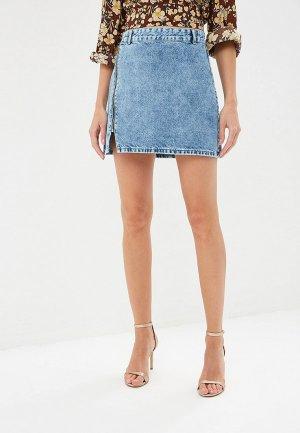 Юбка джинсовая adL. Цвет: голубой