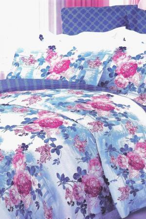 Постельное белье евро 70x70 BegAl. Цвет: голубой