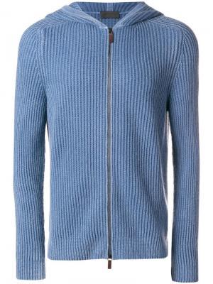 Zip hoodie Iris Von Arnim. Цвет: синий