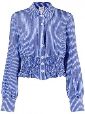 Присборенная рубашка в полоску Baum Und Pferdgarten. Цвет: синий