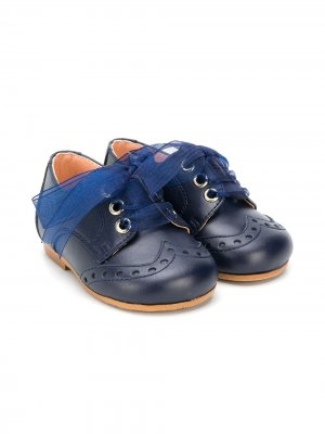 Пинетки на шнуровке CLARYS. Цвет: синий