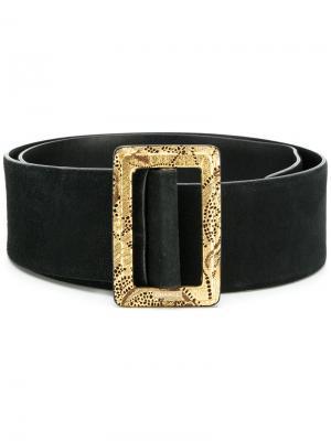 Широкие ремень Chanel Vintage. Цвет: черный