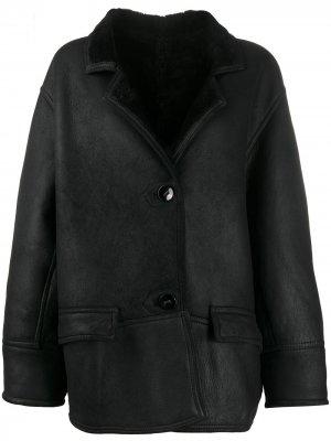 Куртка 1980-х годов с подкладкой из овчины A.N.G.E.L.O. Vintage Cult. Цвет: черный