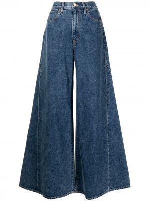 Расклешенные джинсы широкого кроя Slvrlake. Цвет: синий