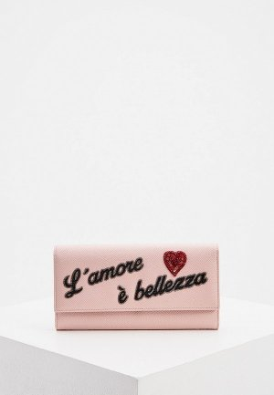 Кошелек Dolce&Gabbana. Цвет: розовый