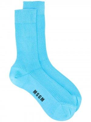 Носки с логотипом MSGM. Цвет: синий