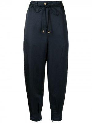 Зауженные брюки с завышенной талией Manning Cartell. Цвет: синий