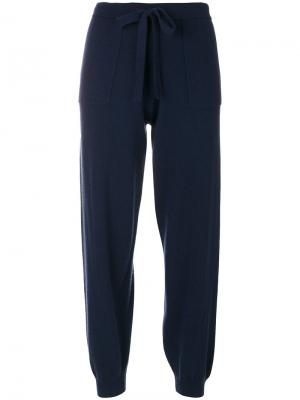 Укороченные спортивные брюки Allude. Цвет: синий