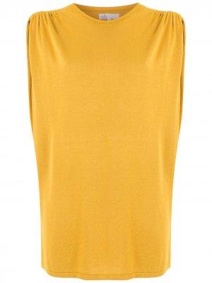 Блузка с заниженными проймами Nk. Цвет: желтый