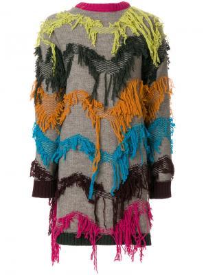 Кардиган с вышивкой I'M Isola Marras. Цвет: нейтральные цвета