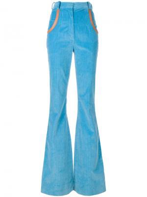 Расклешенные брюки с завышенной талией Nina Ricci. Цвет: синий