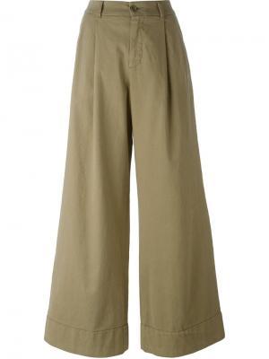 Широкие брюки P.A.R.O.S.H.. Цвет: нейтральные цвета