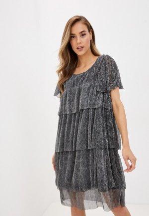 Платье Vero Moda Curve. Цвет: серебряный