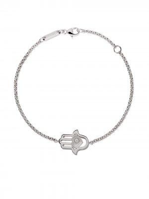 18kt white gold Good Luck Charms diamond bracelet Chopard. Цвет: белый