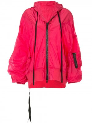 Куртка-дождевик с капюшоном UNRAVEL PROJECT. Цвет: розовый