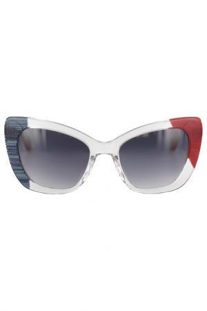 Очки солнцезащитные Byblos. Цвет: прозрачный