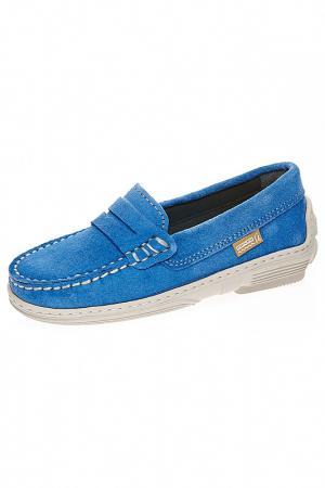 Мокасины ELI. Цвет: голубой