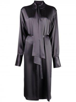 Платье-рубашка без воротника Joseph. Цвет: серый