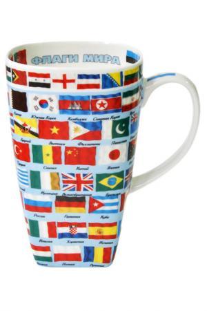Кружка Флаги Федерация. Цвет: белый