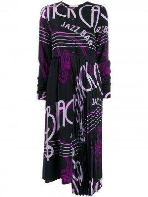 Расклешенное платье Jazz Bar с принтом Dorothee Schumacher. Цвет: черный