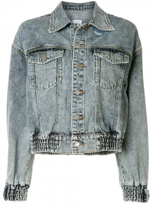 Короткая куртка SJYP. Цвет: синий