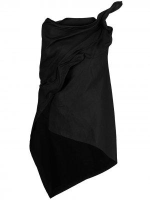 Жакет асимметричного кроя с драпировкой Yohji Yamamoto. Цвет: черный