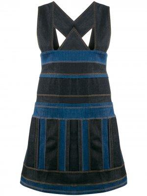 No Ka Oi джинсовое платье-сарафан Ka'. Цвет: синий