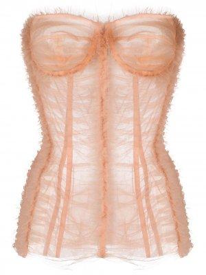 Корсет из тюля Dolce & Gabbana. Цвет: розовый