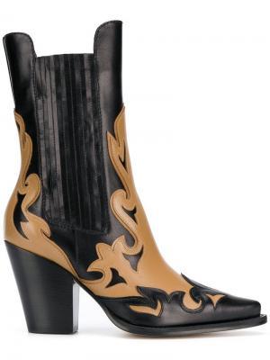 Ковбойские ботинки Alberta Ferretti. Цвет: черный