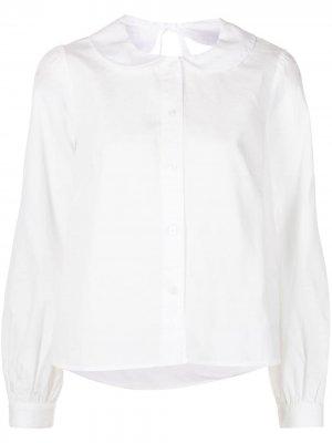 Блузка Nettle Sandy Liang. Цвет: белый