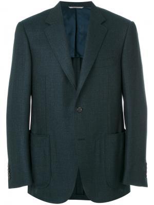 Приталенный пиджак Canali. Цвет: синий