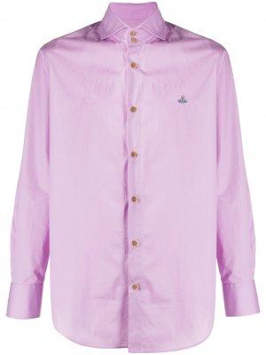 Рубашка с вышитым логотипом Vivienne Westwood. Цвет: розовый