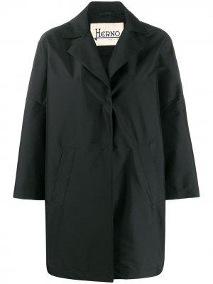 Однотонная куртка Herno. Цвет: черный