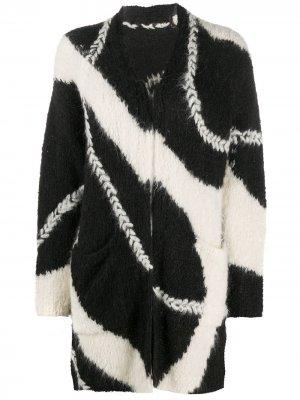 Кардиган-пальто с узором Iris Von Arnim. Цвет: черный