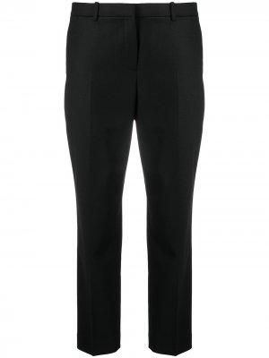 Укороченные зауженные брюки Theory. Цвет: черный