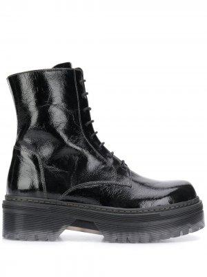 Байкерские ботинки на платформе Tosca Blu. Цвет: серый