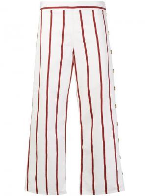 Широкие брюки Mih Jeans. Цвет: белый