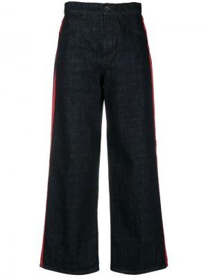 Широкие джинсы с полосками Marni. Цвет: синий