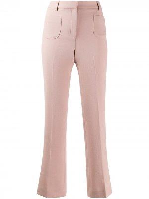 LAutre Chose расклешенные брюки со складками L'Autre. Цвет: розовый