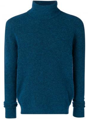 Turtle neck sweater Roberto Collina. Цвет: синий