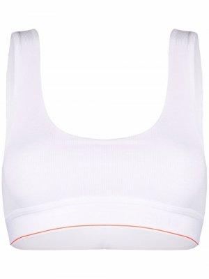 Топ-бралетт из коллаборации с Heron Preston Calvin Klein. Цвет: белый