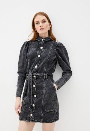 Платье джинсовое River Island. Цвет: серый
