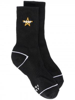 Носки с вышитым логотипом Ader Error. Цвет: черный