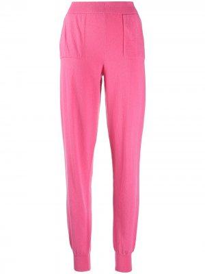 Зауженные брюки AMI AMALIA. Цвет: розовый