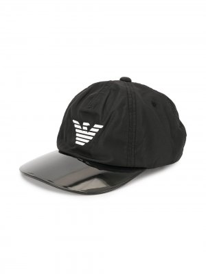 Бейсбольная кепка с логотипом Emporio Armani Kids. Цвет: черный