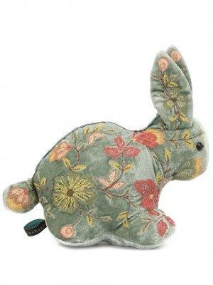 Мягкая игрушка в виде кролика с вышивкой Anke Drechsel. Цвет: зеленый