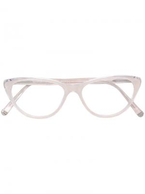 Classic cat-eye glasses Retrosuperfuture. Цвет: белый