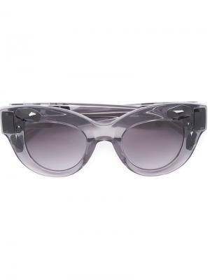 Декорированные солнцезащитные очки Vera Wang. Цвет: серый