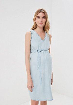 Платье Mamalicious. Цвет: голубой