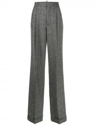 Строгие брюки прямого кроя Dsquared2. Цвет: серый